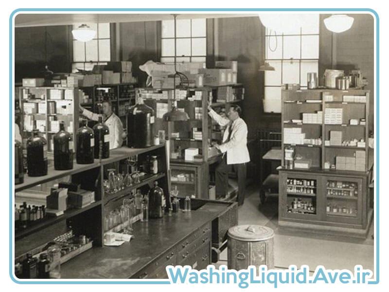 اختراع مایع دستشویی